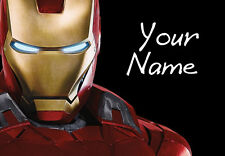 Personalised Custom (Ironman) A4 Laminated - Bedroom Wall Poster - Home/Office