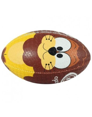 Optimum Sport Hand Stitched Rubber Outer Balanced Weight Lions Rugby Ball