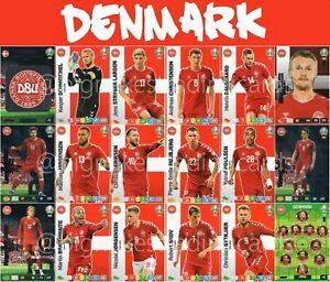 Panini-Adrenalyn-Xl-Uefa-Euro-2020-Dinamarca-equipo-completo-de-18-Cartas-Set-Euros