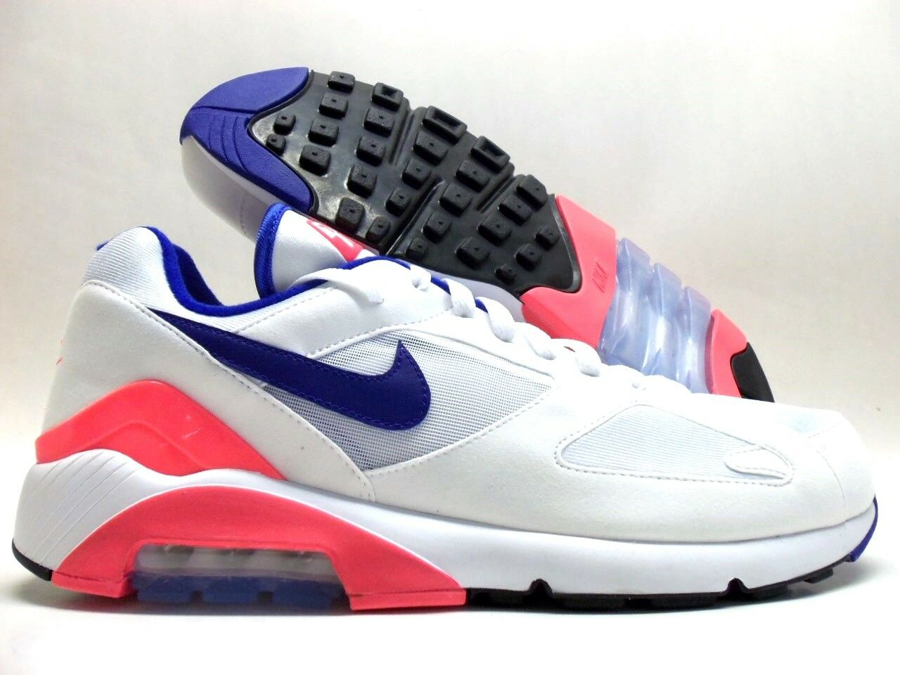 NIKE AIR MAX 180 WHITE/ULTRAMARINE-SOLAR RED SIZE MEN'S 10.5 Price reduction best-selling model of the brand