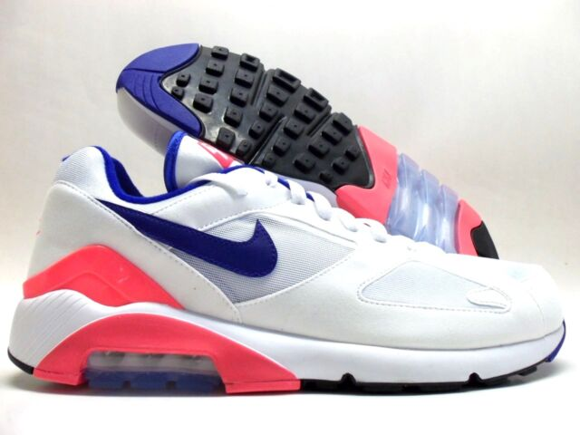 Nike Air Max 180 OG Whiteultra marine Solar Red Men Size 9.5 615287 100