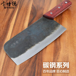 red wood handle handmade kitchen knives carbon steel style chef