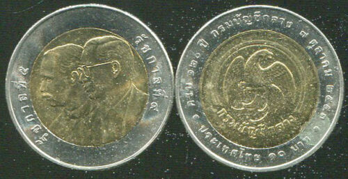 "THAILAND 10 BAHT /""120th Comptroller General/'s Department/"" 2010 BI-METALLIC COIN"