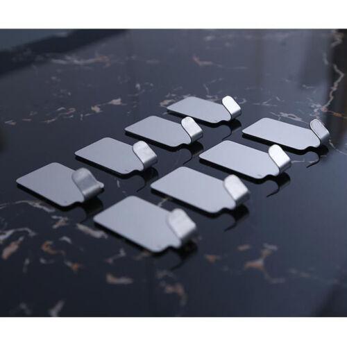 8 Pcs Strong Self Adhesive Stainless Steel Hooks Stick On Hook Multi Purpose