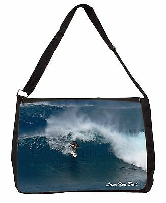 "Imparato Riding The Surf ""love You Dad"" Large Nero Laptop Borsa A Tracolla Scuola, Dad-155sb- Design Moderno"