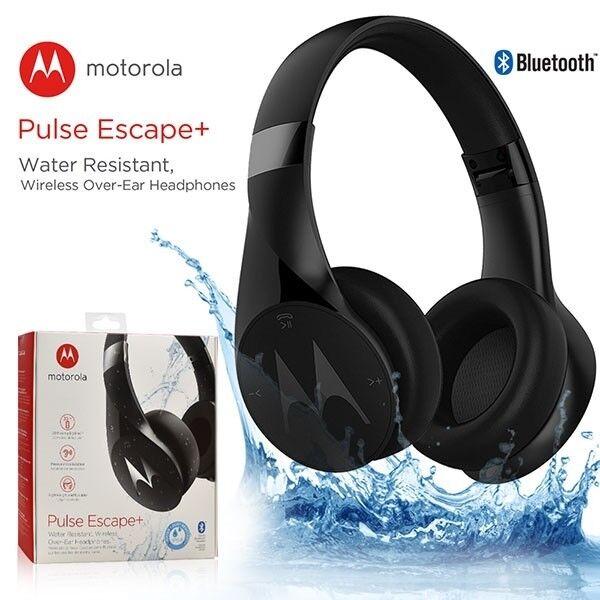 4f7d3cac7ebb55 Motorola Pulse Escape Over-ear Ip54 Water Resistant Wireless Headphones  Black for sale online | eBay