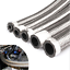 """AN8 11mm 0.43/"""" Fuel Hose Stainless Steel Braided Oil Joiner Hose Pipe 1 Meter"""