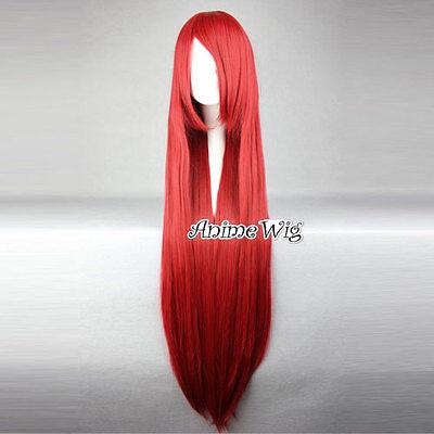 80cm/100cm gerade Lang Glatt Anime Cosplay voll Wig Perücke Haar Party Kostüme