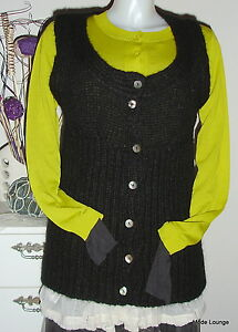 Jacket 40 nero in Gilet Nuovo Paxby L lana Noa qwt6BnAz