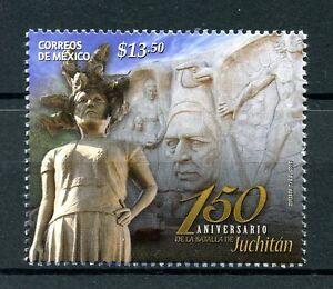 Mexique-2016-neuf-sans-charniere-bataille-de-Juchitan-150th-anniv-1v-set-militaire-timbres