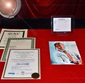E-R-PROP-RX-Slip-amp-GEORGE-CLOONEY-genuine-Signed-E-R-Original-Photo-UACC-COA