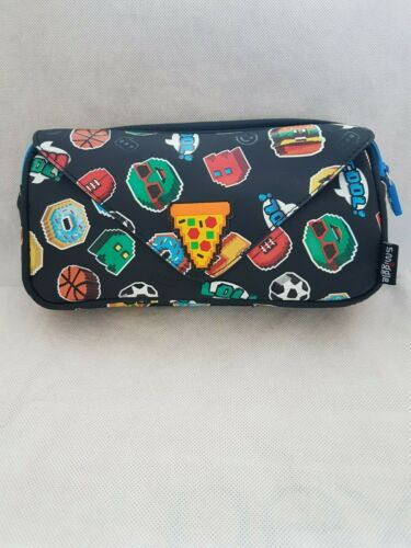 Smiggle Hits Post Collections Pencil Case Lilac Black Mix Pink