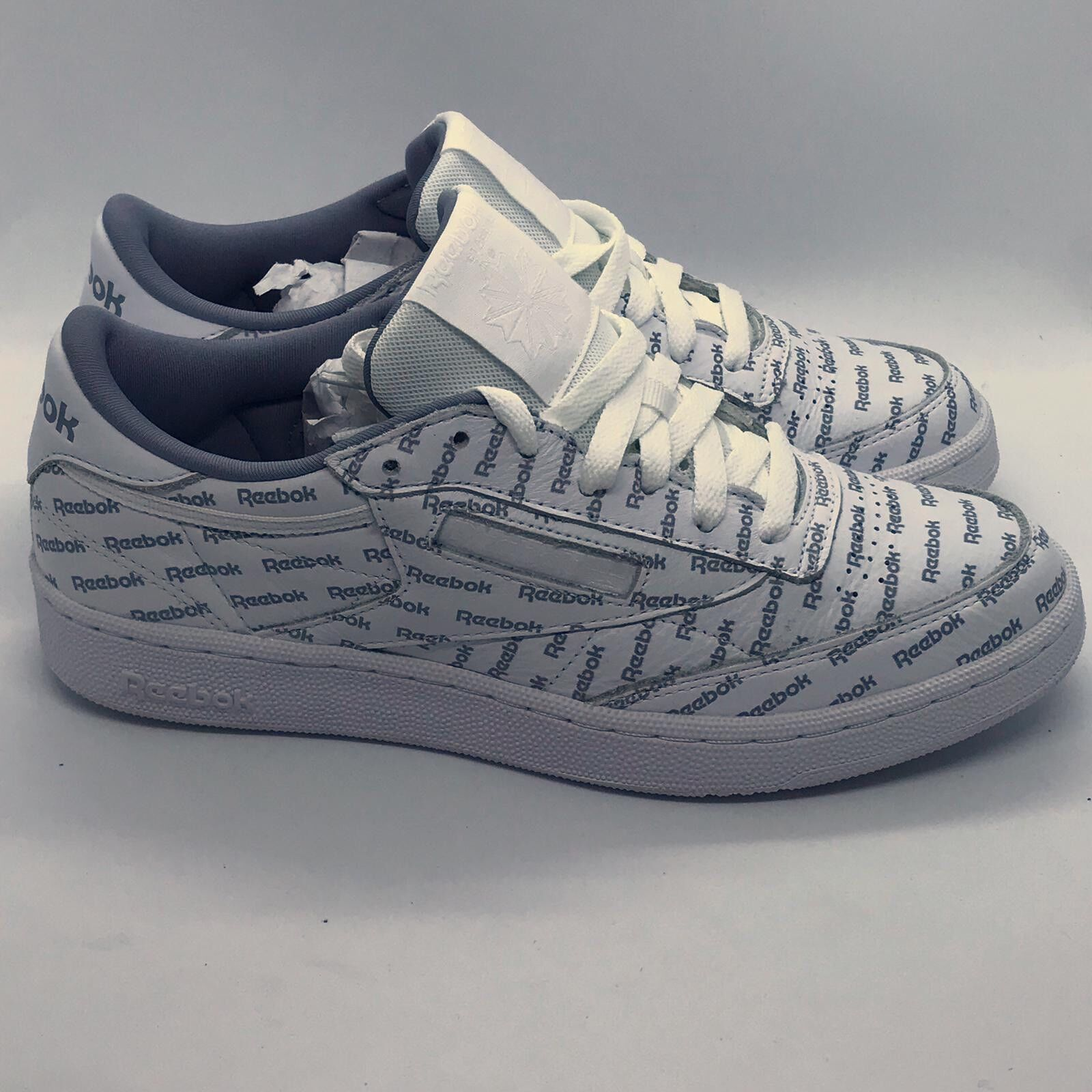 Reebok Club C 85 SO Mens White Leather Lace Up Sneakers shoes Brand New Size 7.5