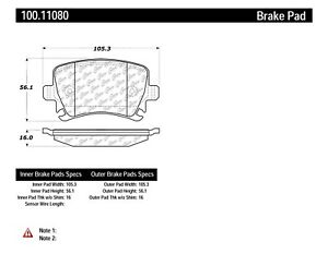 D1108 FITS VEHICLES LISTED ON CHART BRAND NEW PAGID REAR BRAKE PADS 100.11080