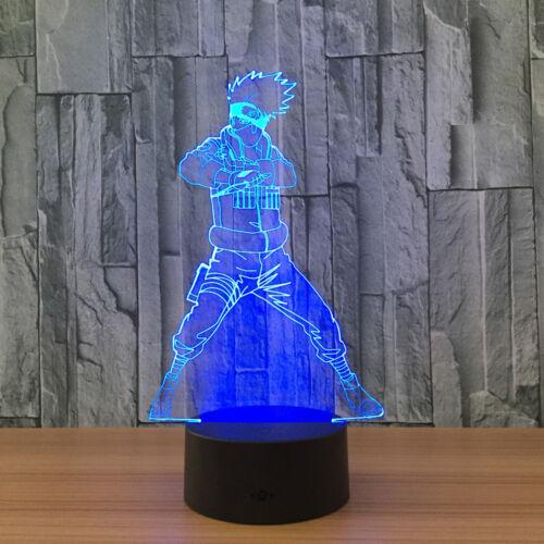 3D Anime Naruto Shippuden Hatake Kakashi Night Light Decor LED Table Desk Lamp