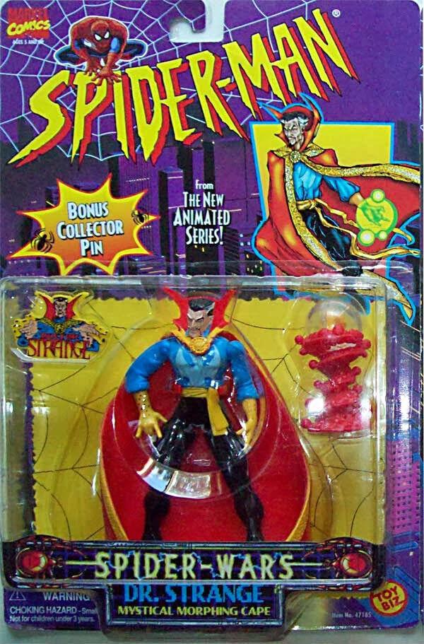 VINTAGE Spider-Man 1994 1996 Animated Series Dr Strange Figure Toy Biz RARE NEW