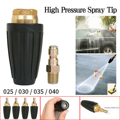 "High Pressure Washer Rotating Turbo Nozzle Spray 1//4/"" Tip 2.5-4 GPM 3600PSI"
