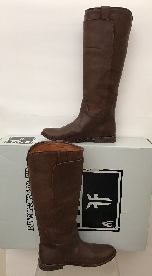 FRYE Stiefel Stiefel Stiefel PAIGE TALL SADDLE TOBACCO braun BURNISHED LEATHER RIDING CLASSIC 8 NEW 06518e