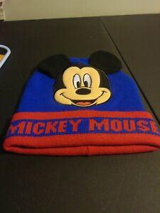 Disney-Mickey-Mouse-Ninos-Invierno-Sombrero-Gorro-De-Lana-Gorra