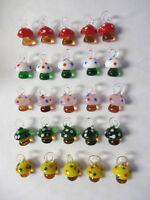 Mushroom Pendants Lot Of 25 Glass Shrooms Mixed Colors Wholesale Charms