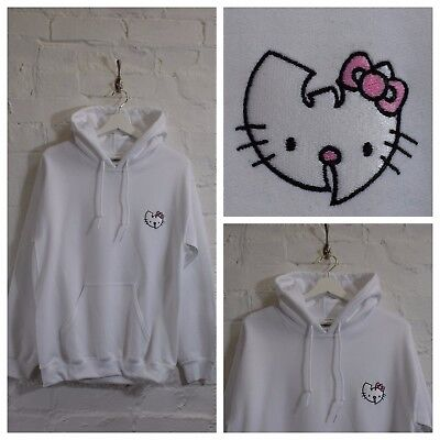 Actual Fact Wu X Hello Kitty Japonais Dessin Animé Blanc Sweat à Capuche | eBay