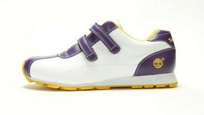 VINTAGE TIMBERLAND WOMEN'S MOLASSES DOUBLE-STRAP 16384 WHITE//PURPLE-YELLOW