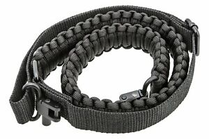 Black-Paracord-550-Rifle-Shotgun-Crossbow-Gun-Sling-Tactical-Adjustable-Swivels
