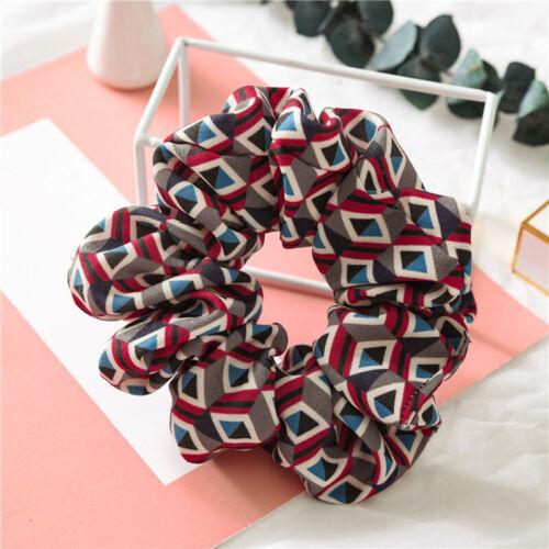Shiny Glitter PU Scrunchie Hair Rope Women Elastic Hair Ties Ponytail Hair Ring