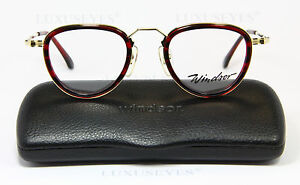 WINDSOR-Classic-Brille-Eyeglasses-Occhiali-Gafas-Lunettes-Rare-Panto-803-381-51