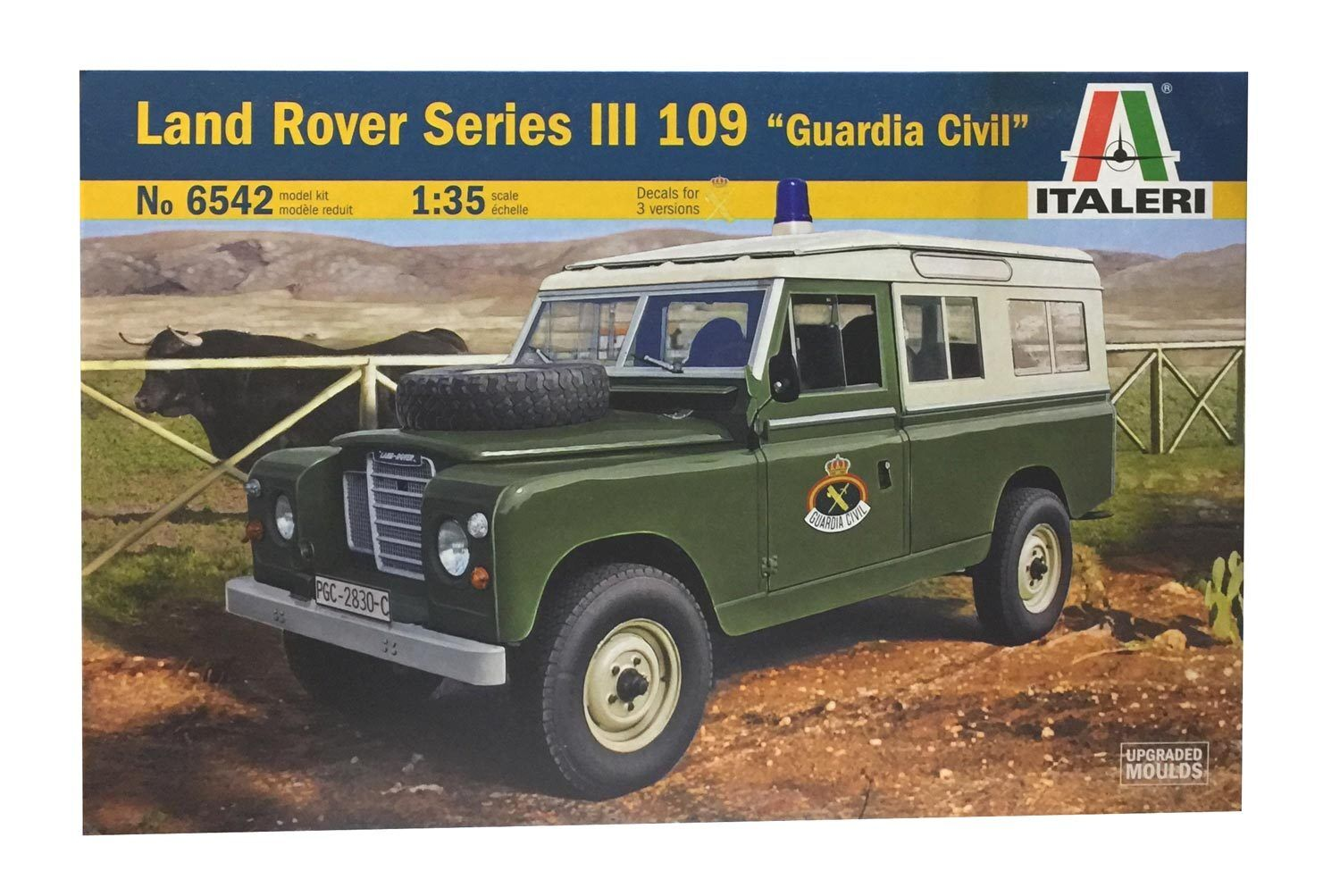 Italeri 6542. Model Car Land Rover III 109  Guard Civil . Scale 1 35