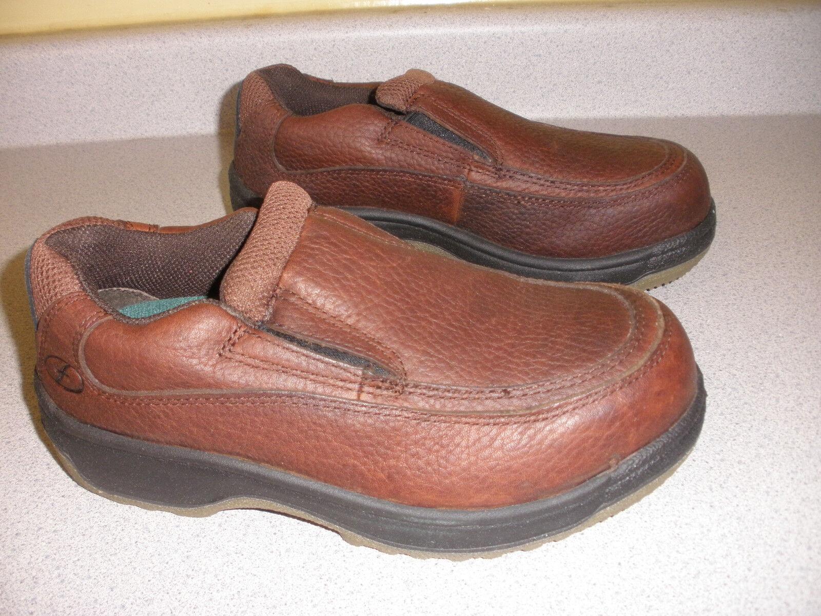 FLORSHEIM Men's Was brn moc FS245 Steel Toe Work shoes Boot Size 7 M BROWN