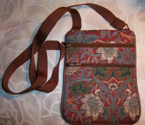 Signare ~ Tapestry trave/passport Bag Wm Morris De