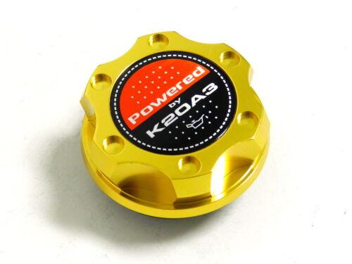 GOLD BILLET CNC RACING ENGINE OIL FILLER CAP HONDA CIVIC RSX K20A3