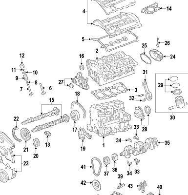 Audi A4 B7 Golf Jetta Passat 2.0T FSI Engine Chain,Tensioner,Valve Cover  Gasket | eBayeBay