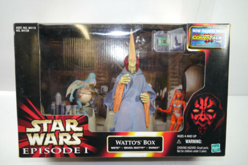 Star Wars Episode I Watto ´S Box Watto Graxol Kelvyyn Shakka Hasbro NIP L