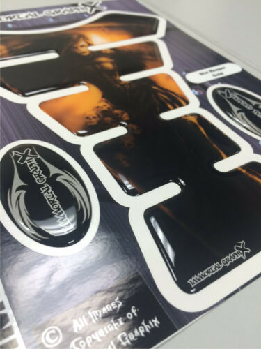 She Reaper Gold Motorcycle 3DGel tank pad tankpad protector Decal