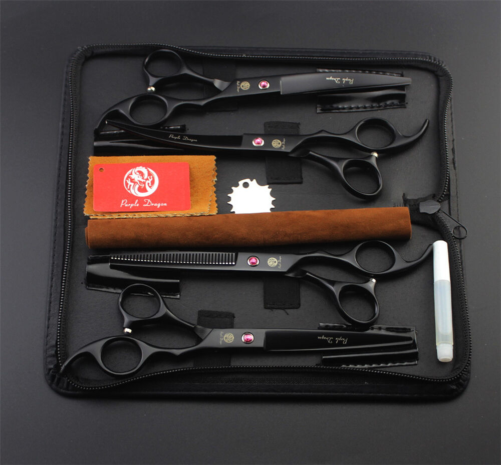 7 inch 8 inch Pet Dog Dog Dog Grooming Scissors Cutting&Thinning&Curved Shears 4pcs set aeca5a