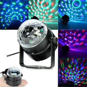 Effect Light Control Rgb Led Ball Crystal Bulb Voice Stage Magic lJ1FKc