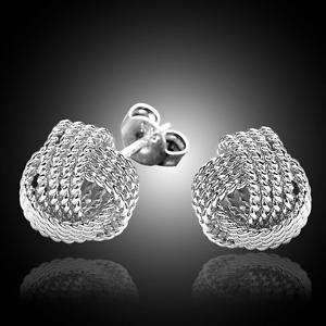 Argent Sterling 925 classique nœud oreille Boucles d/'Oreille Femme Fashion Jewelry