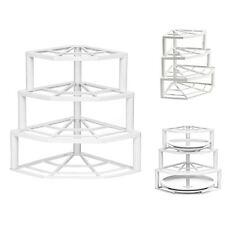 4 TIER Corner PLATE STAND Stacker Holder Storage Rack Cupboard