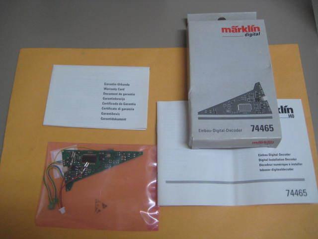 aquí tiene la última Marklin digital de 74465 para para para 24630 decodificador de instalación en su Caja Original-Nuevo En Caja  mejor calidad