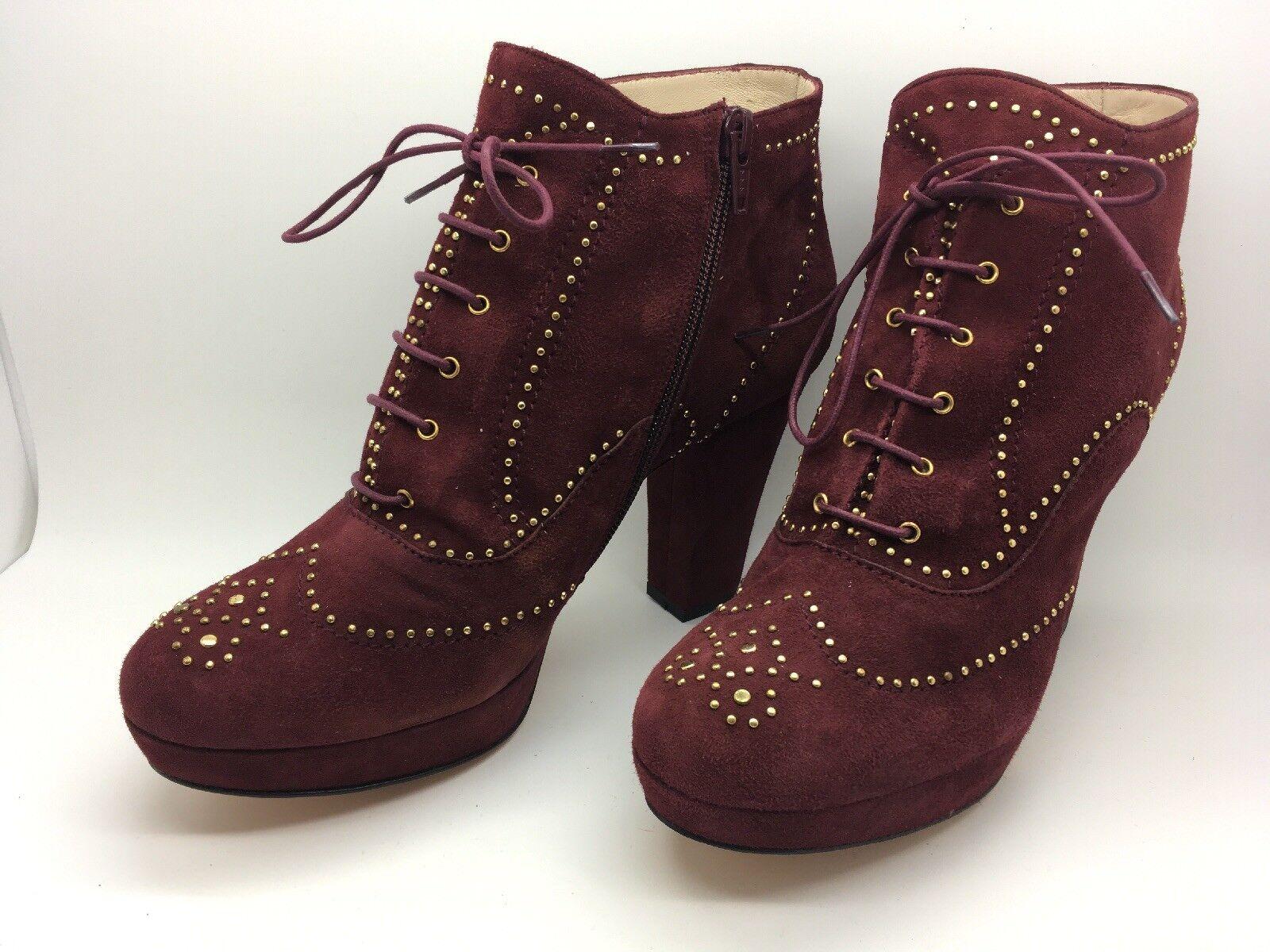 7a84d76c33a GIL nuevas de piel burdeos Talla 39 EUR 7.5 US PACO Botines nqgjot463- zapatos nuevos