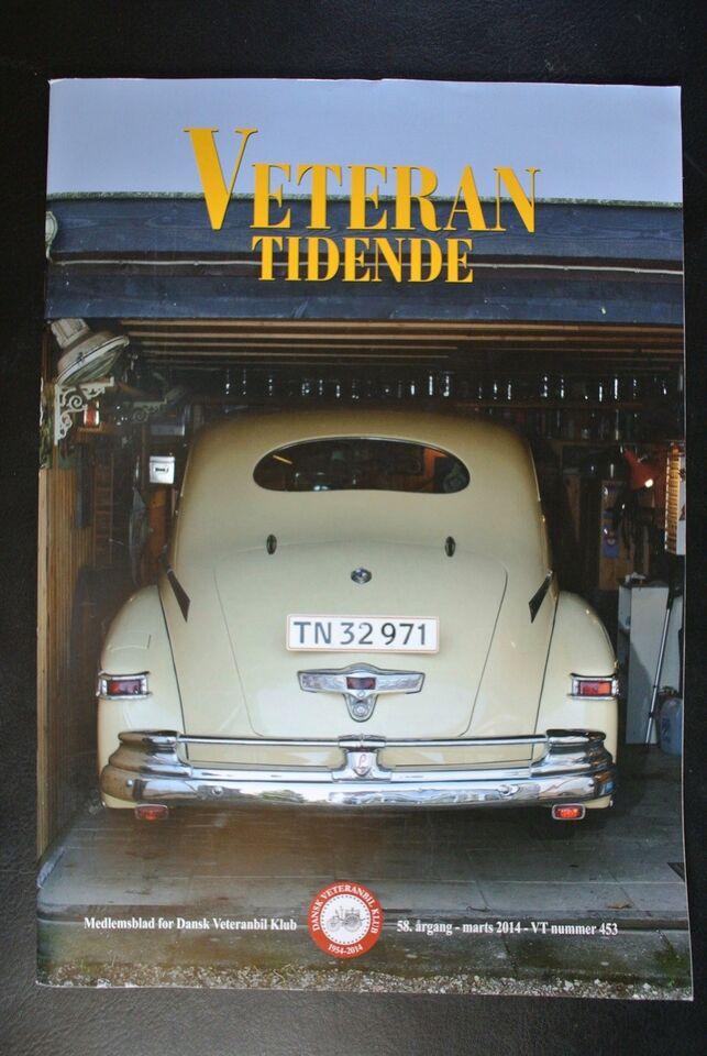 veteran tidende nr. 453 2014 58. årgang, emne: bil og motor