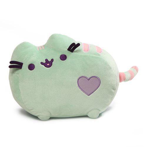 "Pusheen the Cat ~ Pusheen le chat ~ Vert menthe Coeur ~ 12/"" Plush by GUND Neuf avec étiquettes"