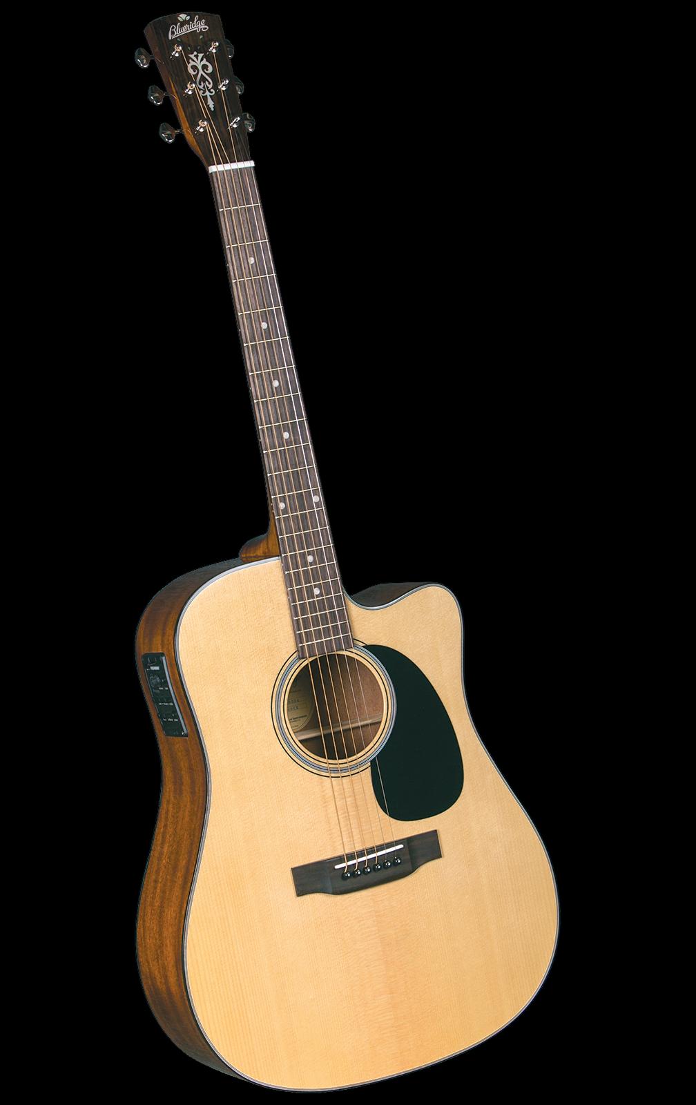 Blauridge BR-40CE Cutaway Electric Dreadnought Western Gitarre