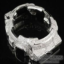 MENS WOMENS CUSTOM G-SHOCK BEZEL 14K WHITE GOLD FINISH DIAMOND SIMULATED GA 100