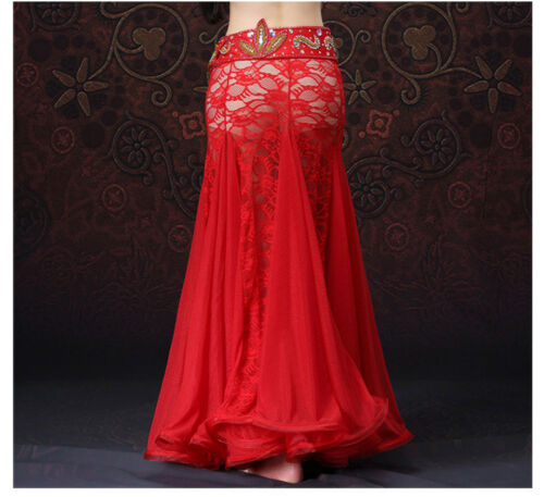 NEW Luxury Lace Professional Belly Dancing Costumes Big Skirt Safe Short Pants