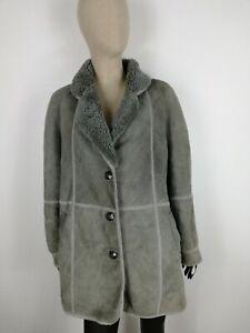 SHEARLING-MONTONE-SHEEPSKIN-Cappotto-Giubbotto-Giacca-Jacket-Tg-48-Donna