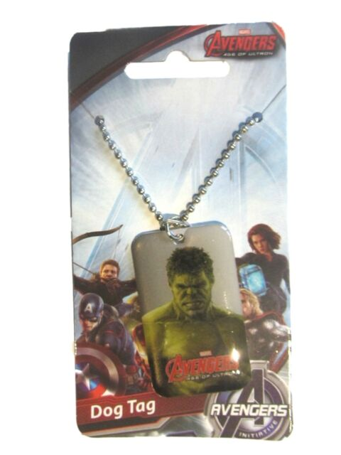 Iron Man Metal Dog Tag Neclace and Captain America The Avengers Incredible Hulk