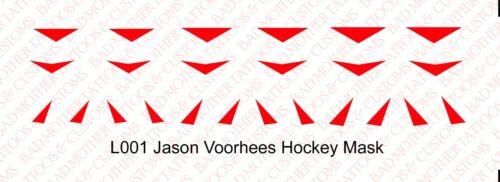 1//6 Scale Custom Waterslide Decals Friday the 13th Jason Voorhees Masque de Hockey